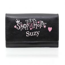 Black Shopaholic Purse
